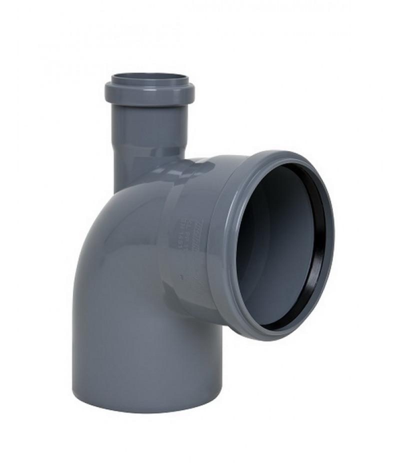 SANIBUD Колено кан. внутреннее диам.110х90 с доб.доступом (тройник коленный)