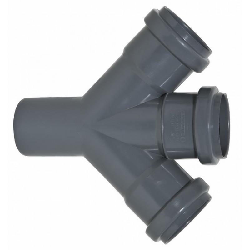 Тройник кан. внутренний диам.50х50 мм