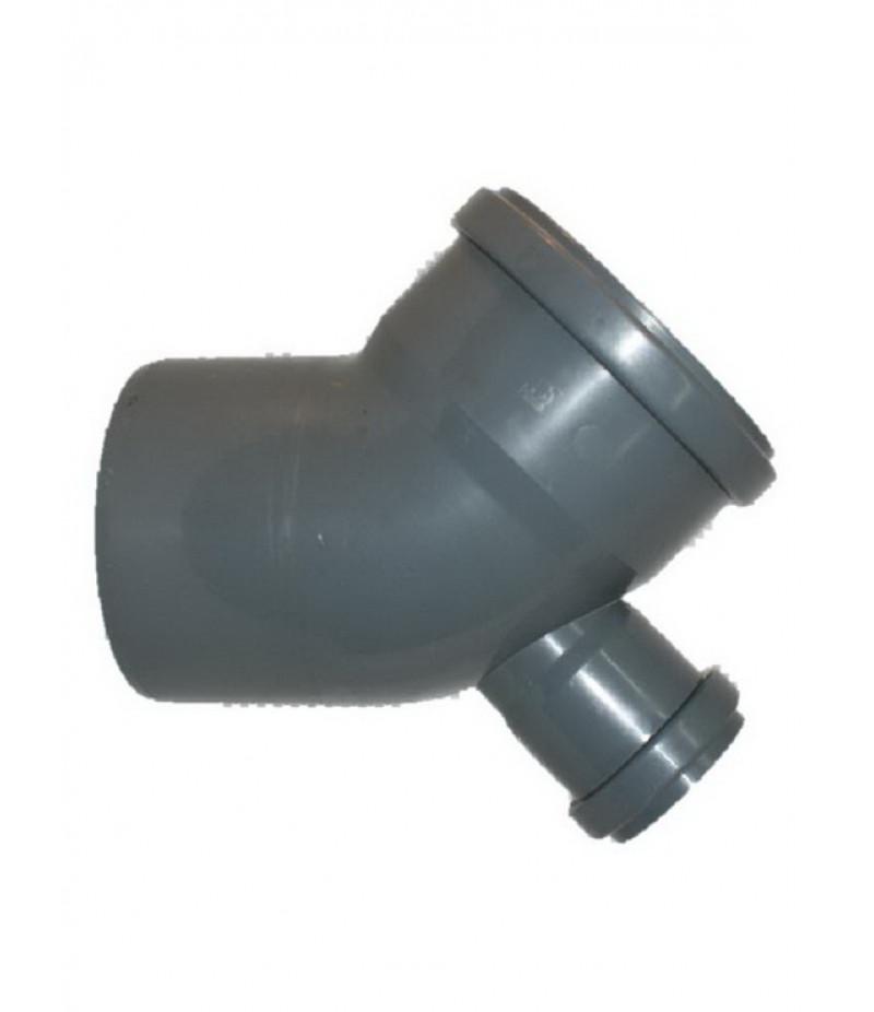 Колено кан. внутреннее диам.110х45  с доб.доступом (тройник коленный)