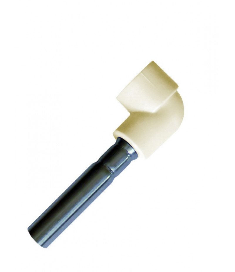 Колено хром  (для радиатора)