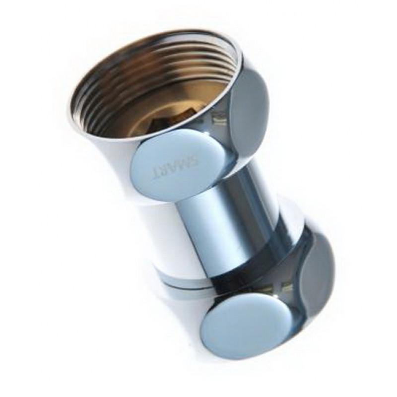 Соединение прямое гайка-гайка для п/сушителя, хром.